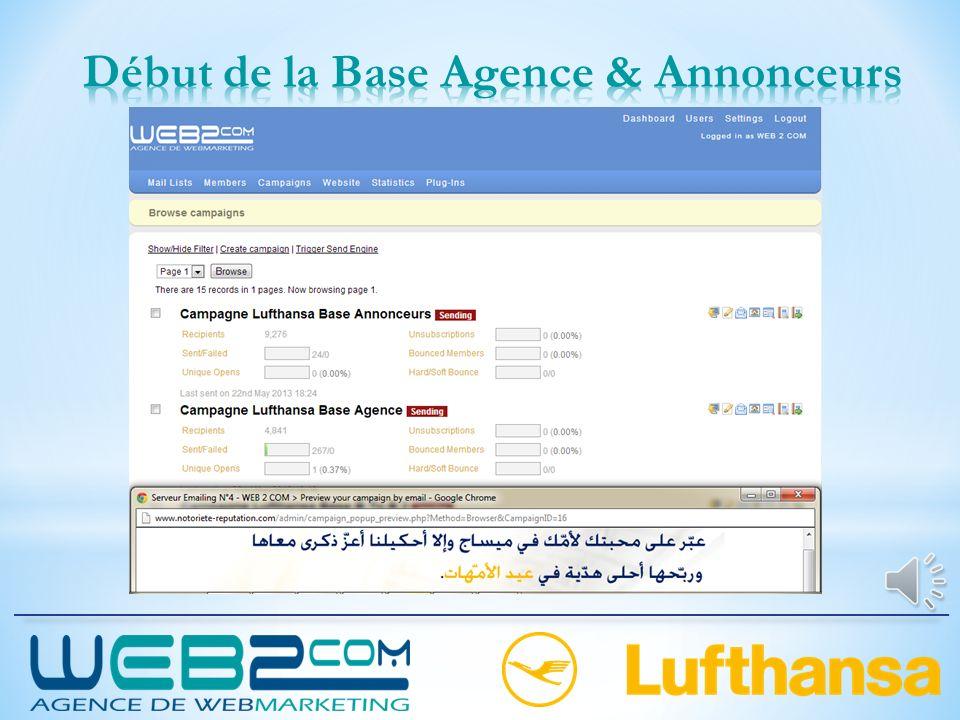 Début de la Base Agence & Annonceurs