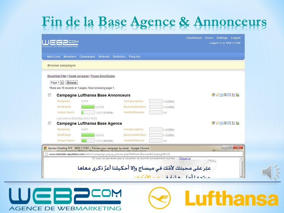 Fin de la Base Agence & Annonceurs