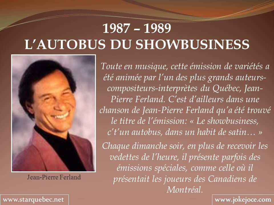 L'AUTOBUS DU SHOWBUSINESS