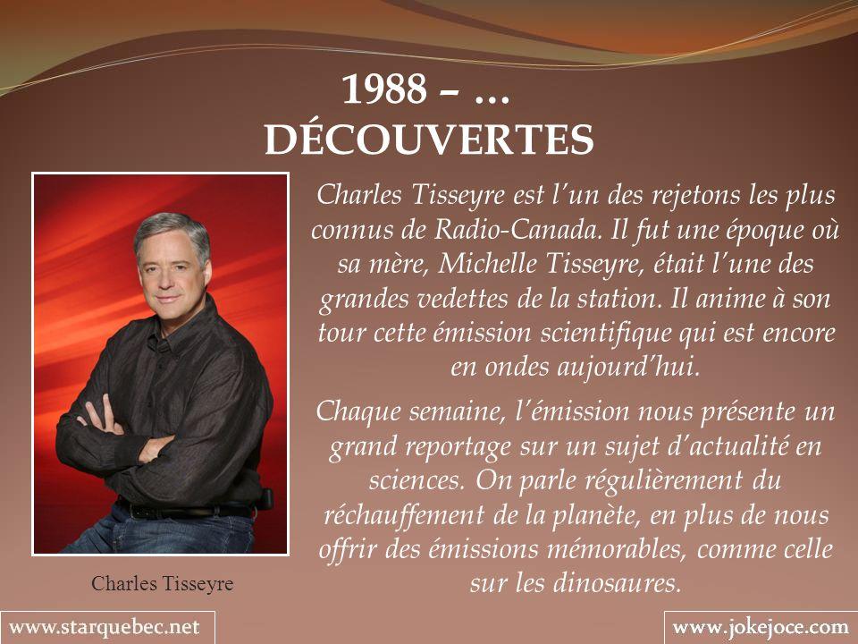 1988 – … DÉCOUVERTES.