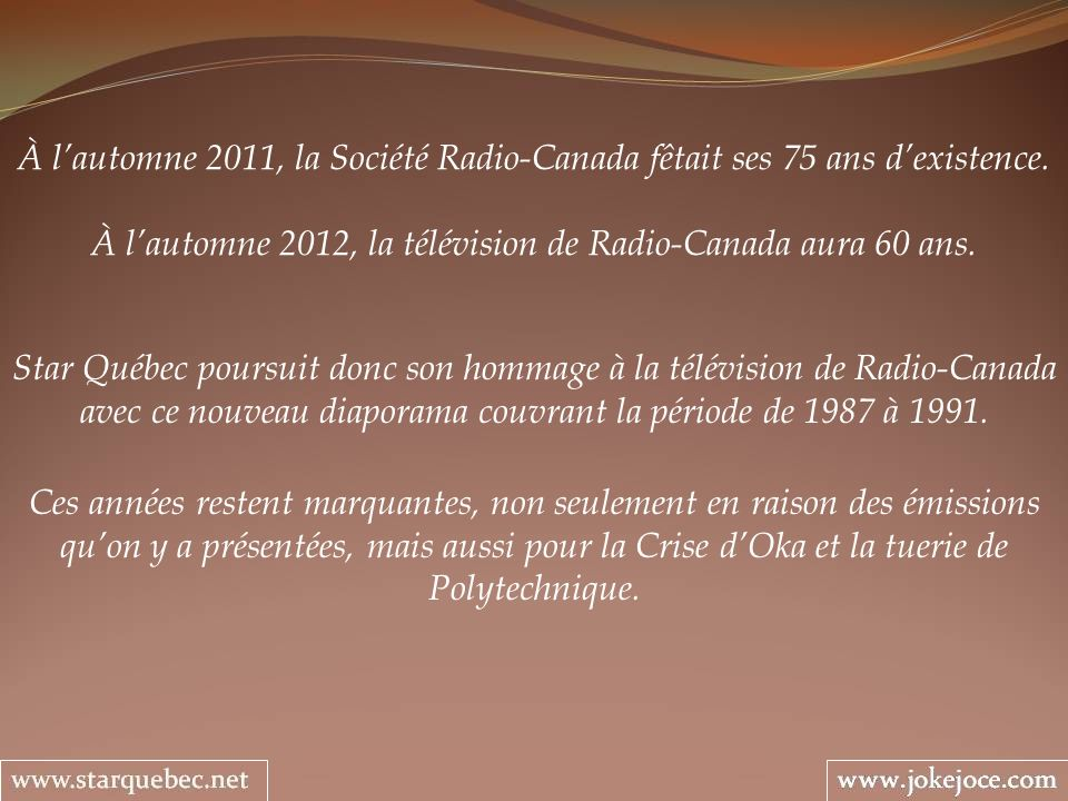 À l'automne 2012, la télévision de Radio-Canada aura 60 ans.