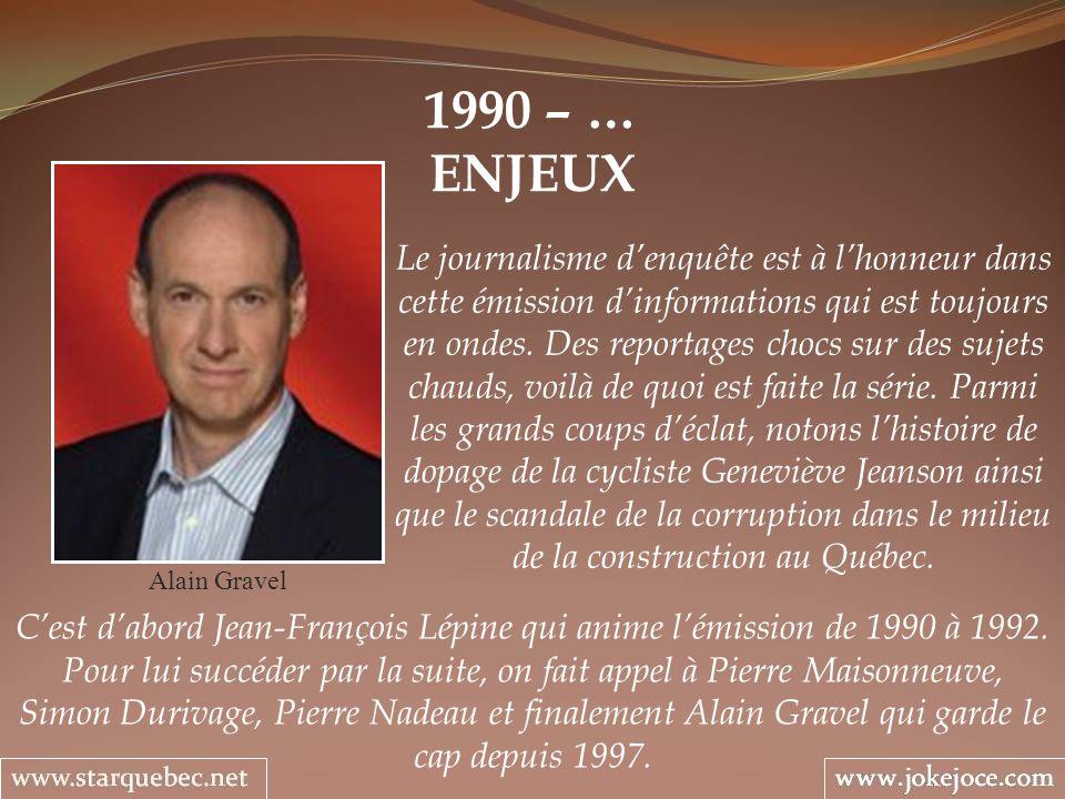 1990 – … ENJEUX.