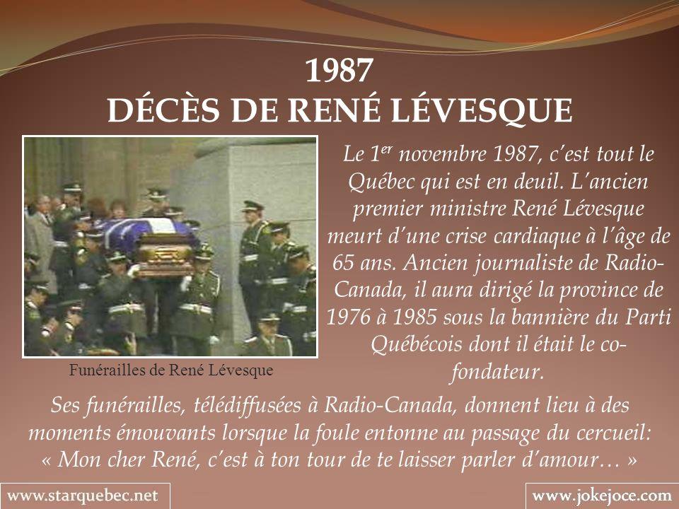 Funérailles de René Lévesque