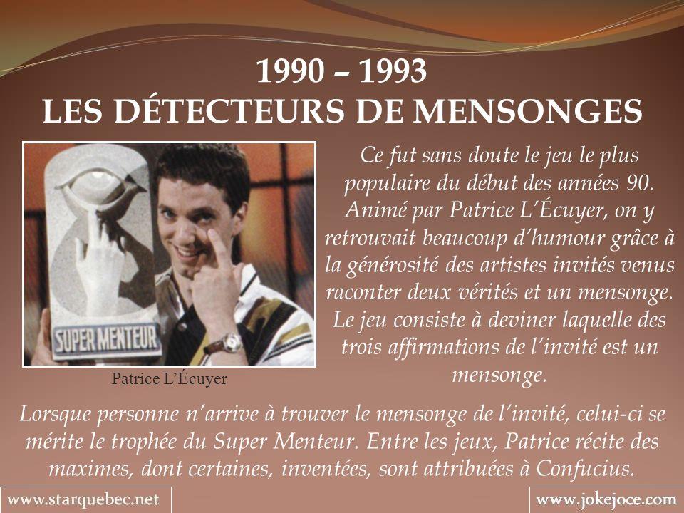 LES DÉTECTEURS DE MENSONGES