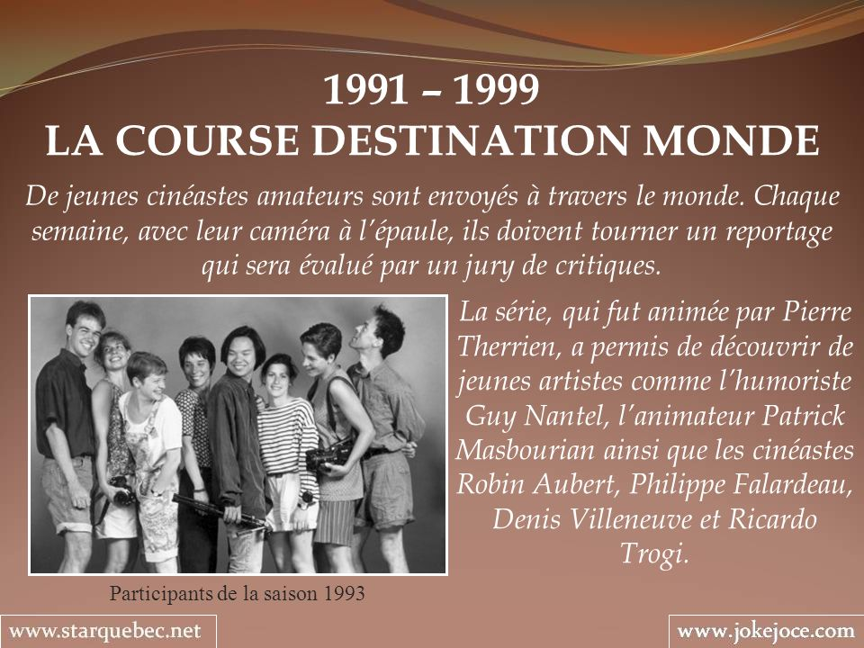 LA COURSE DESTINATION MONDE