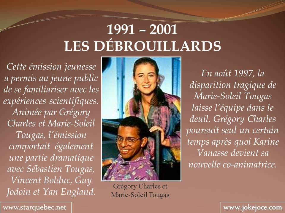 Grégory Charles et Marie-Soleil Tougas