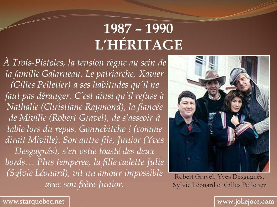 Robert Gravel, Yves Desgagnés, Sylvie Léonard et Gilles Pelletier