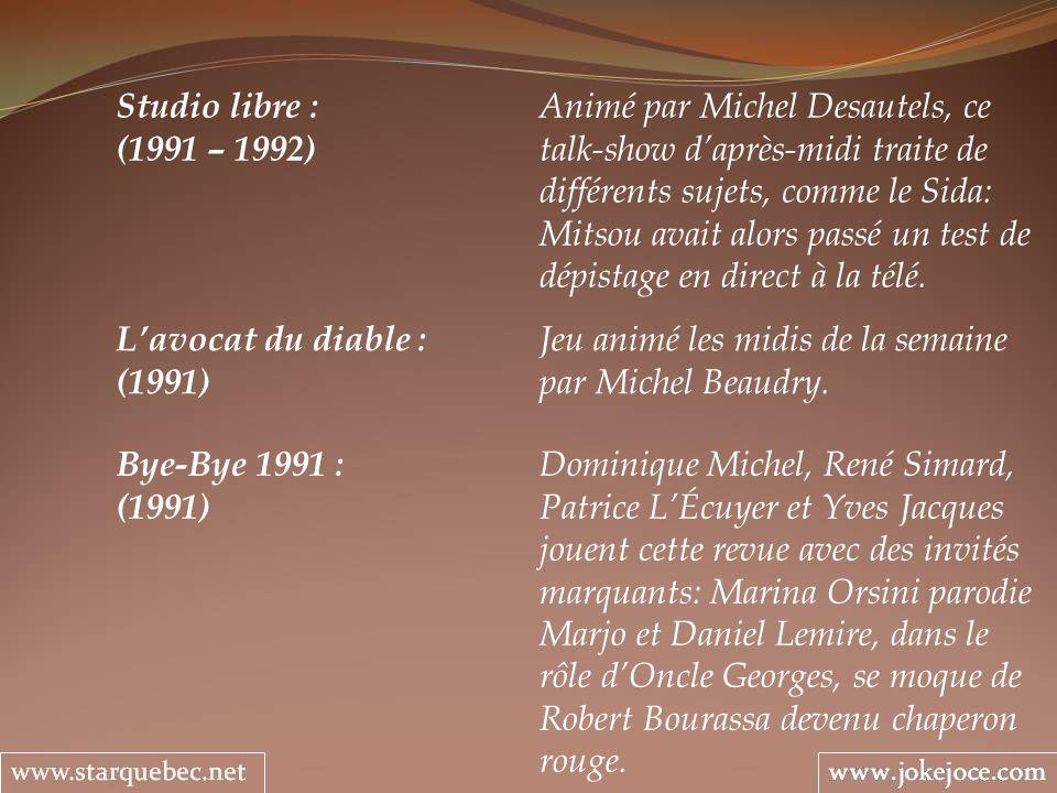 Studio libre : Animé par Michel Desautels, ce