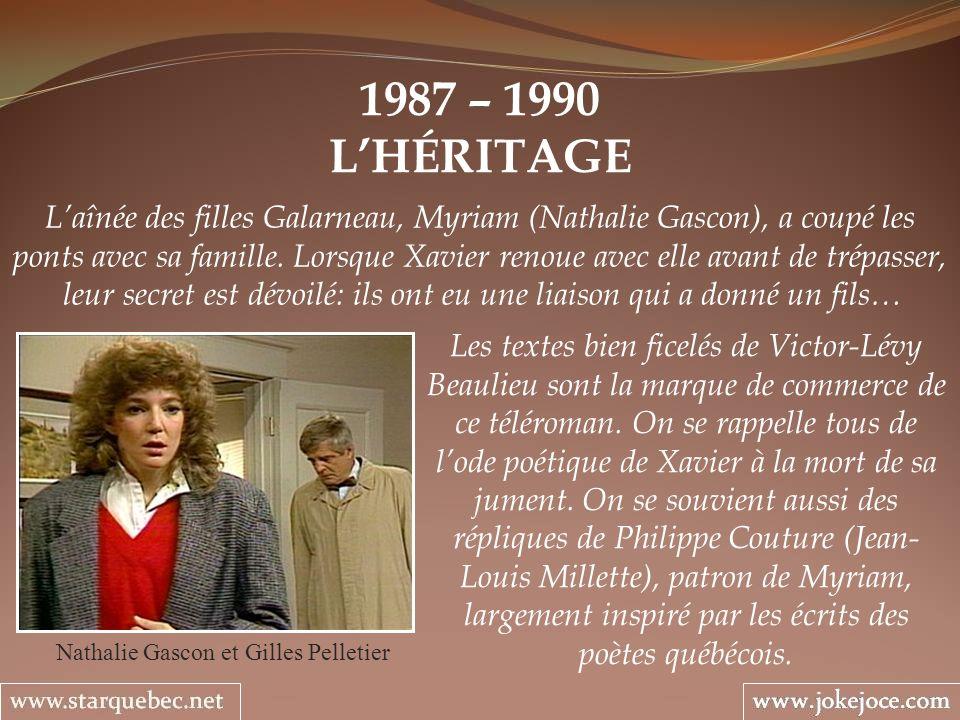 Nathalie Gascon et Gilles Pelletier