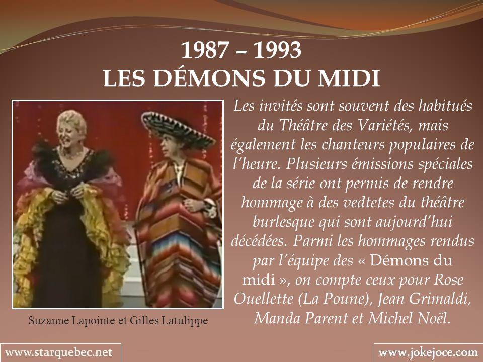 Suzanne Lapointe et Gilles Latulippe