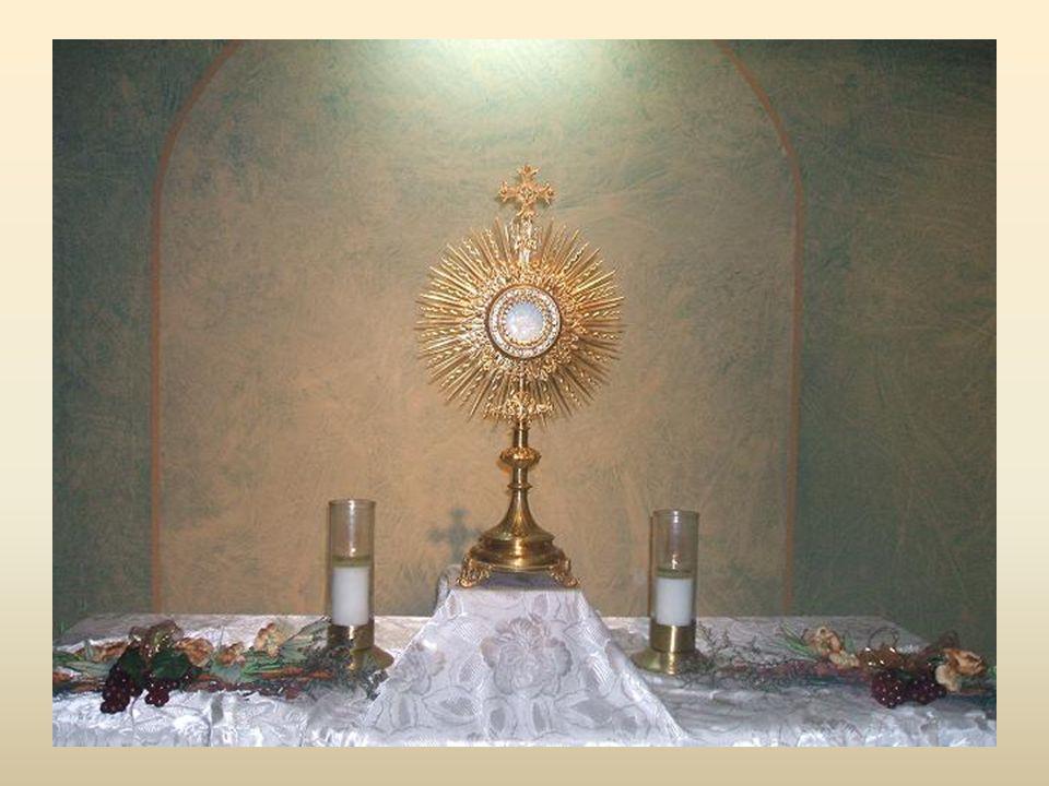 Quant à l'âme, C'est dans les sacrements, dans l'Eucharistie, pain de vie qu'elle trouve sa nourriture, sa force.