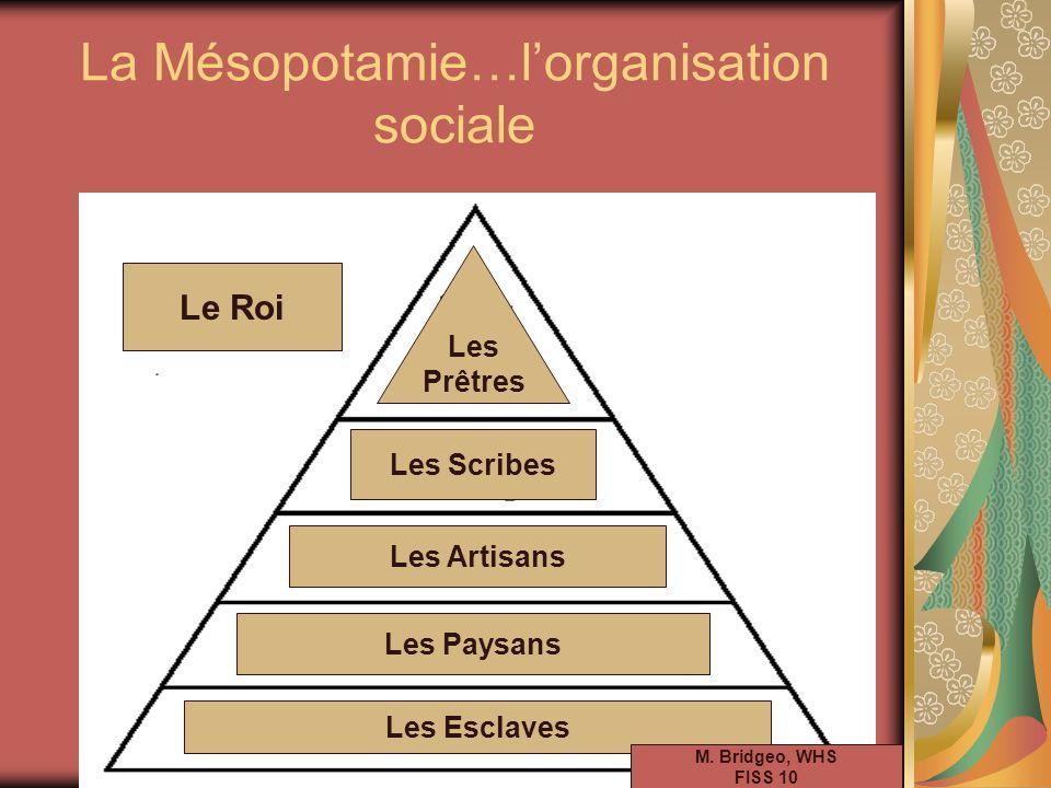 La Mésopotamie…l'organisation sociale