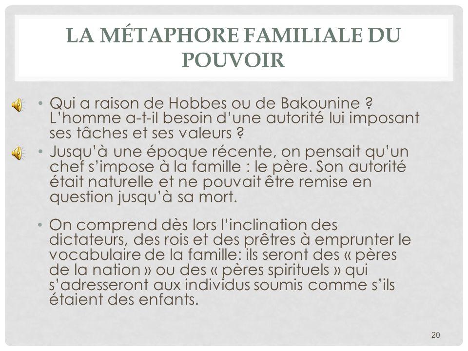 La métaphore familiale du pouvoir