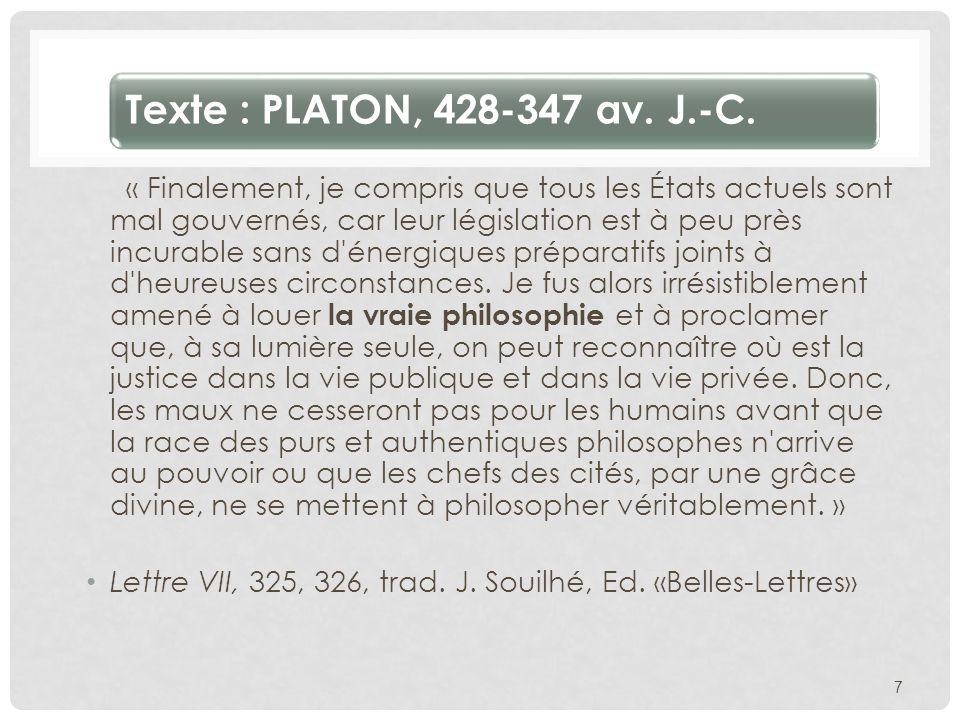 Texte : PLATON, 428-347 av. J.-C.