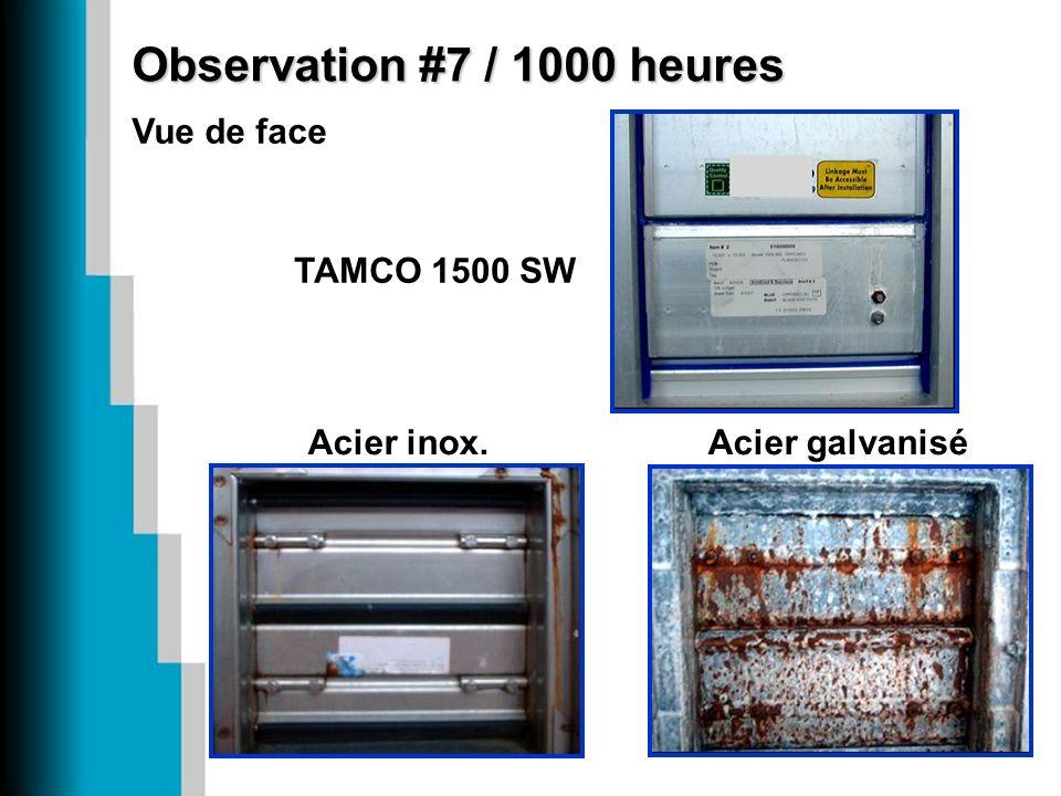 Observation #7 / 1000 heures Vue de face Acier inox. TAMCO 1500 SW