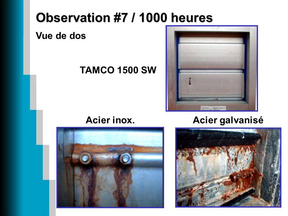 Observation #7 / 1000 heures Vue de dos Acier inox. TAMCO 1500 SW