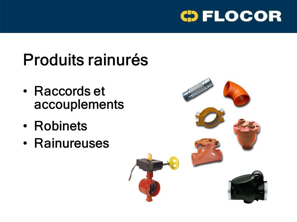 Produits rainurés Raccords et accouplements Robinets Rainureuses