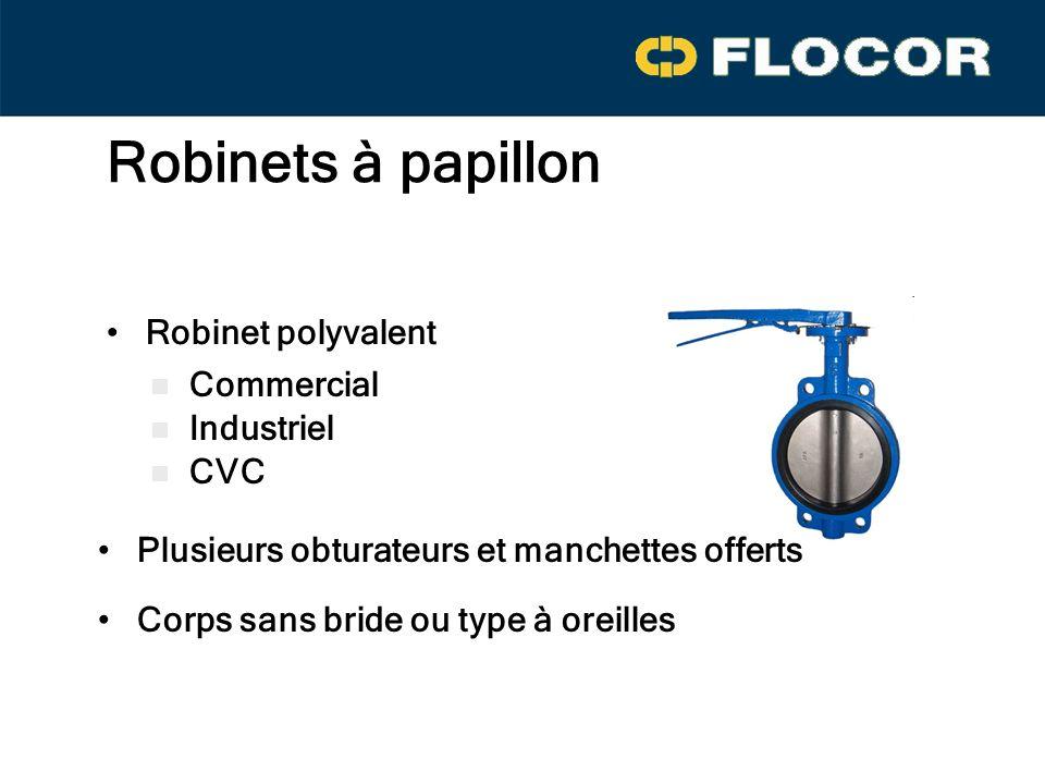 Robinets à papillon Robinet polyvalent Commercial Industriel CVC
