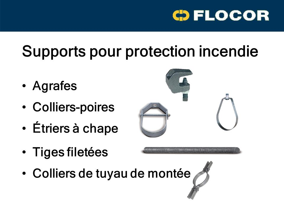Supports pour protection incendie