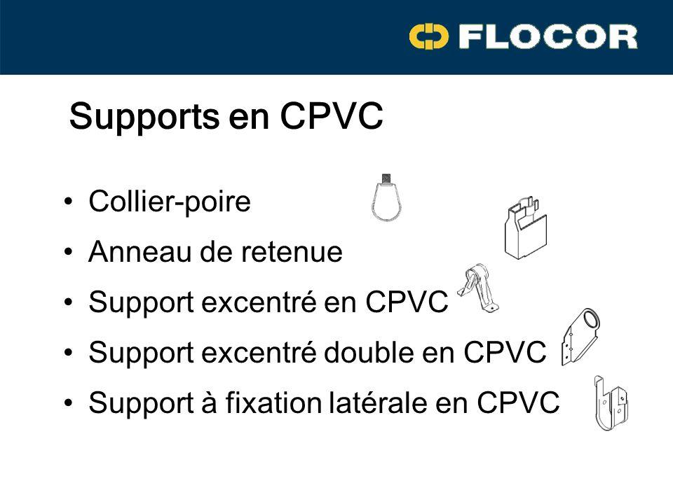 Supports en CPVC Collier-poire Anneau de retenue