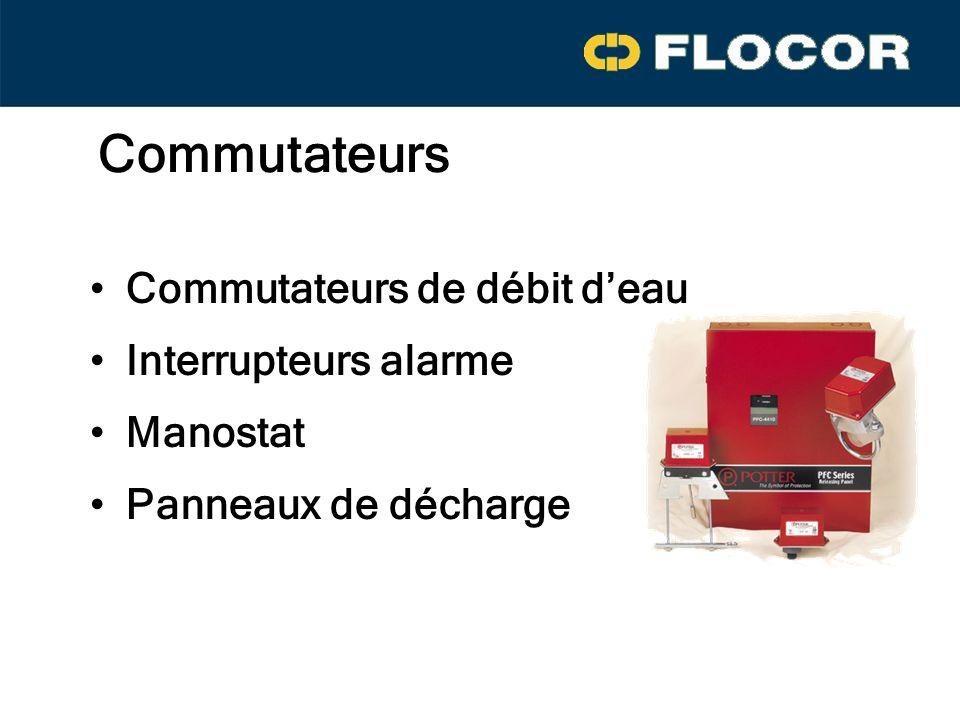 Commutateurs Commutateurs de débit d'eau Interrupteurs alarme Manostat
