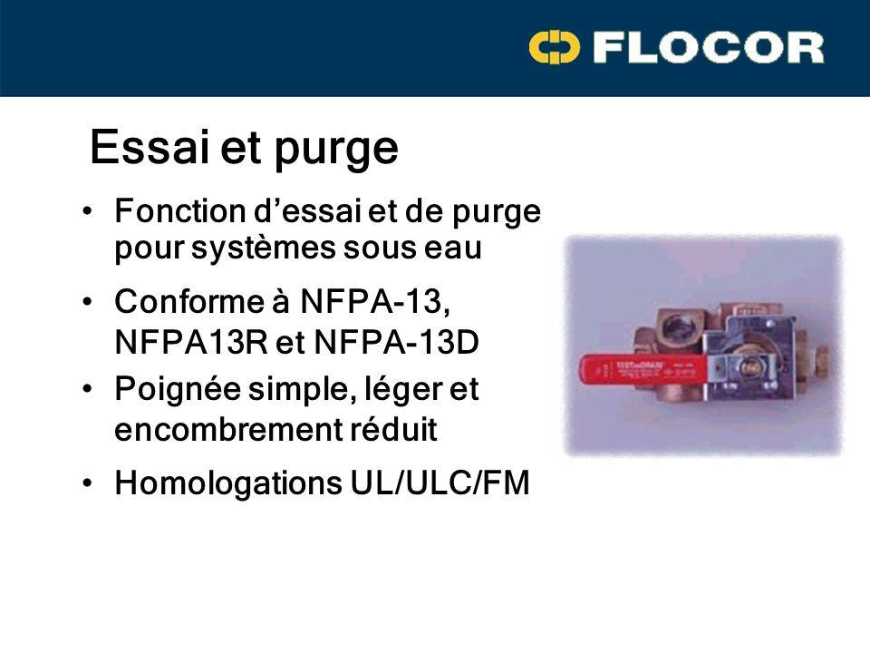 Essai et purge Fonction d'essai et de purge pour systèmes sous eau