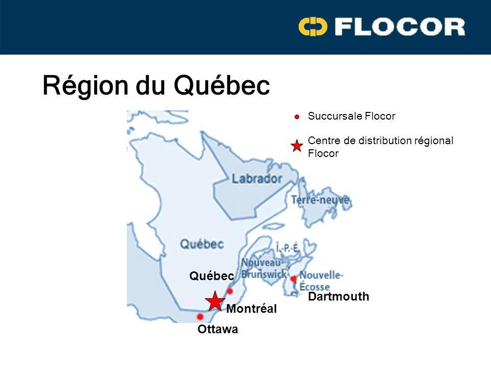 Région du Québec Québec Dartmouth Montréal Ottawa Succursale Flocor