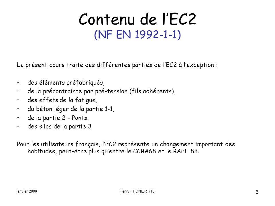 Contenu de l'EC2 (NF EN 1992-1-1)