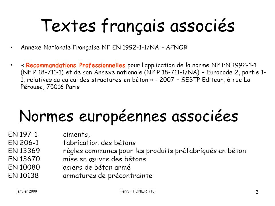 Textes français associés
