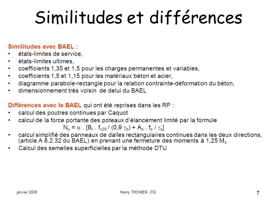 Similitudes et différences