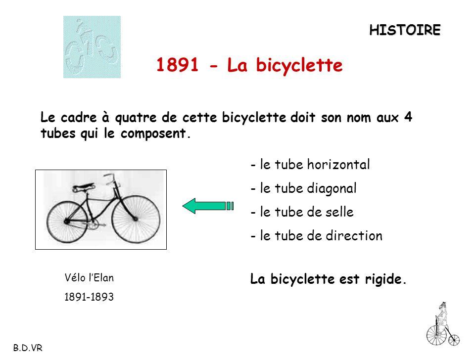 1891 - La bicyclette HISTOIRE