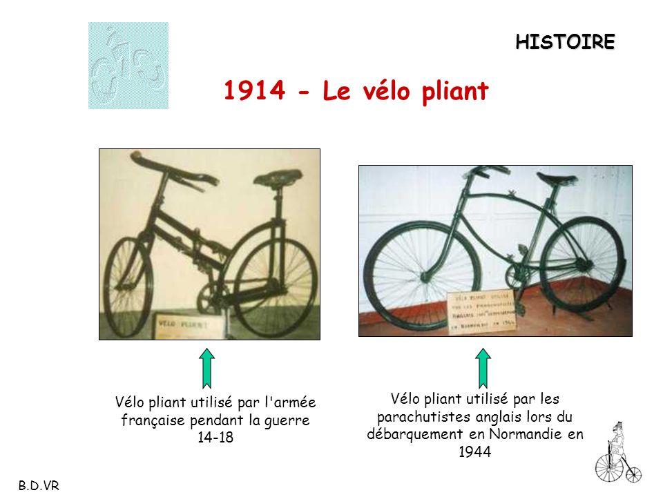 Vélo pliant utilisé par l armée française pendant la guerre 14-18