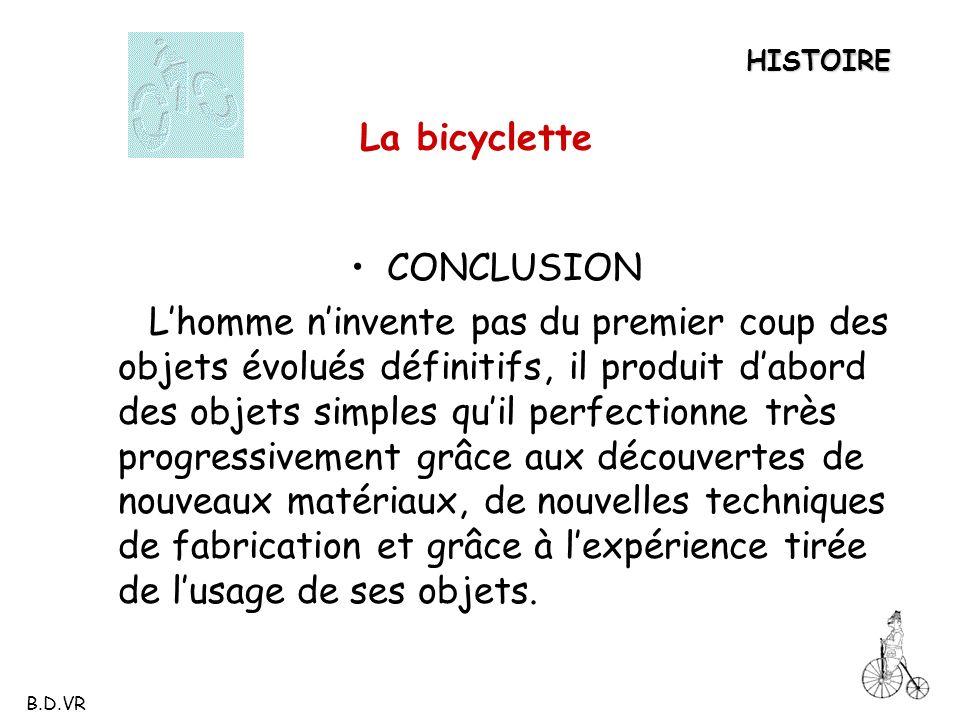 La bicyclette CONCLUSION