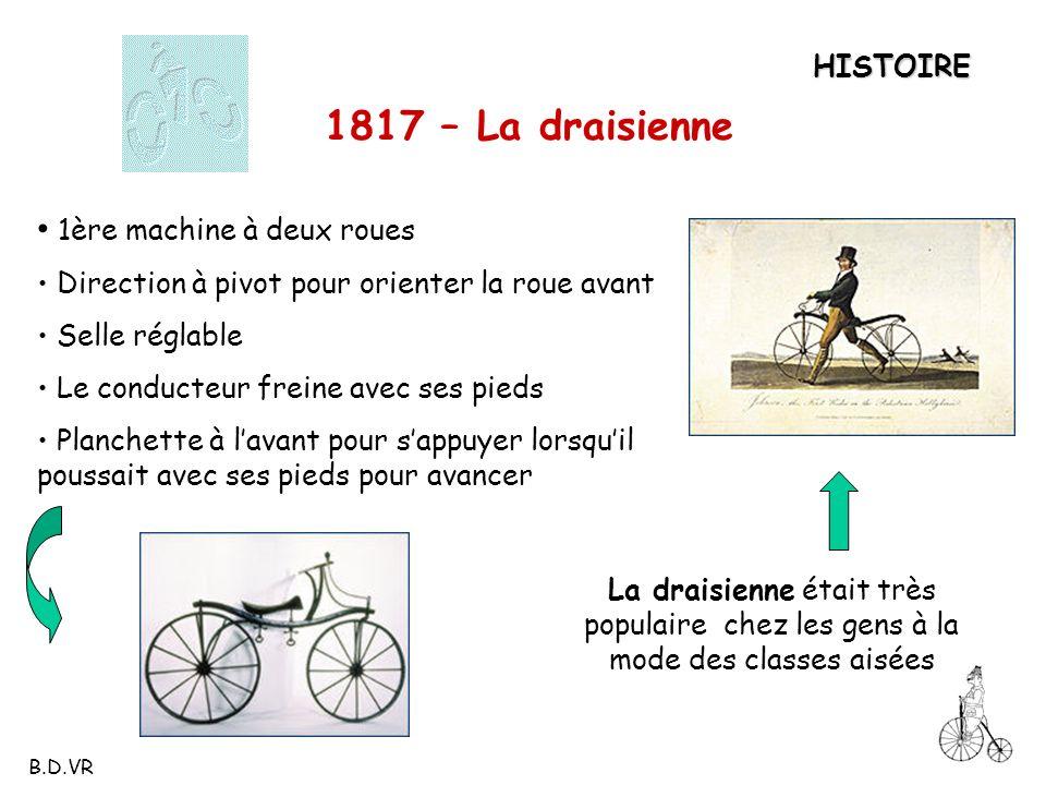 1817 – La draisienne 1ère machine à deux roues HISTOIRE