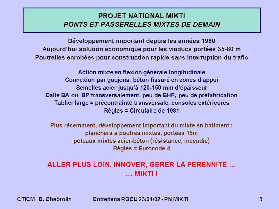 PROJET NATIONAL MIKTI PONTS ET PASSERELLES MIXTES DE DEMAIN