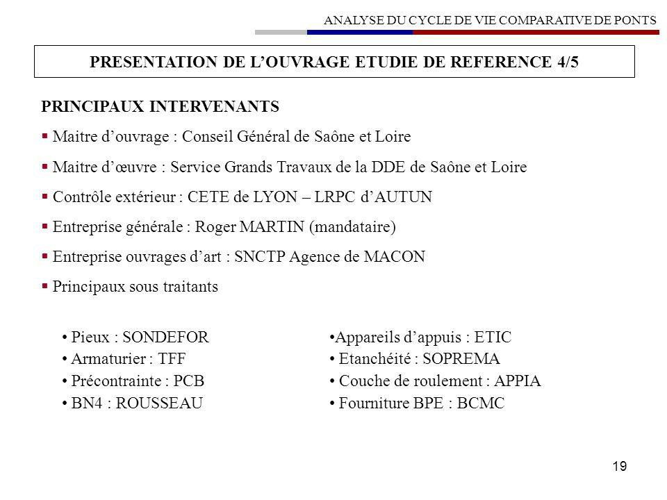 PRESENTATION DE L'OUVRAGE ETUDIE DE REFERENCE 4/5