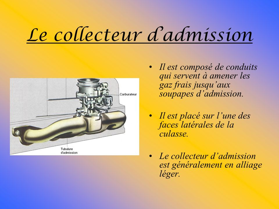 Le collecteur d'admission