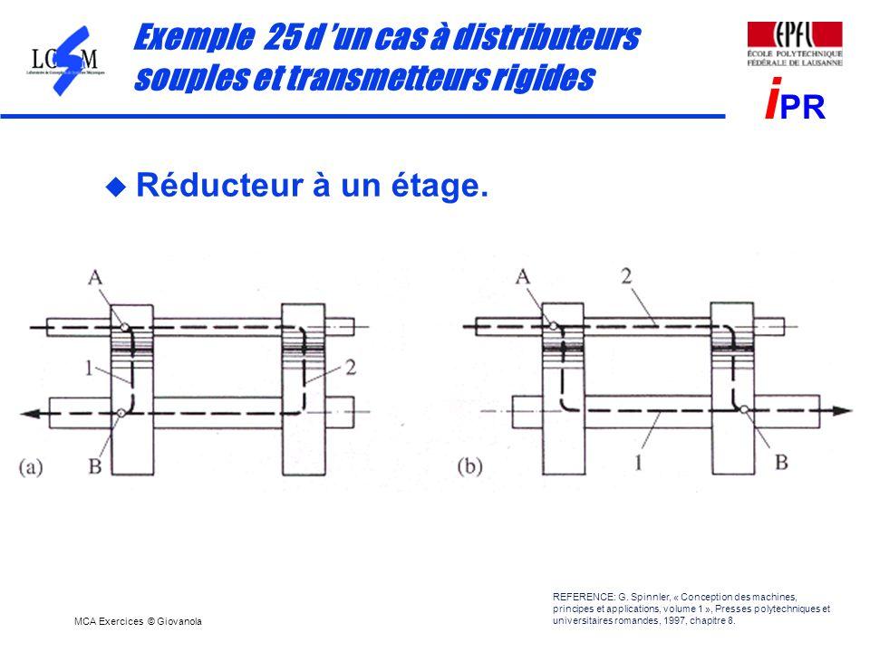 Exemple 25 d 'un cas à distributeurs souples et transmetteurs rigides