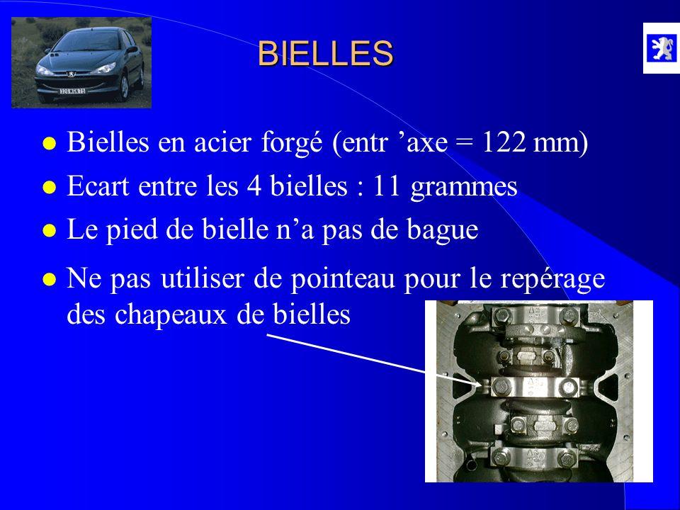 BIELLES Bielles en acier forgé (entr 'axe = 122 mm)