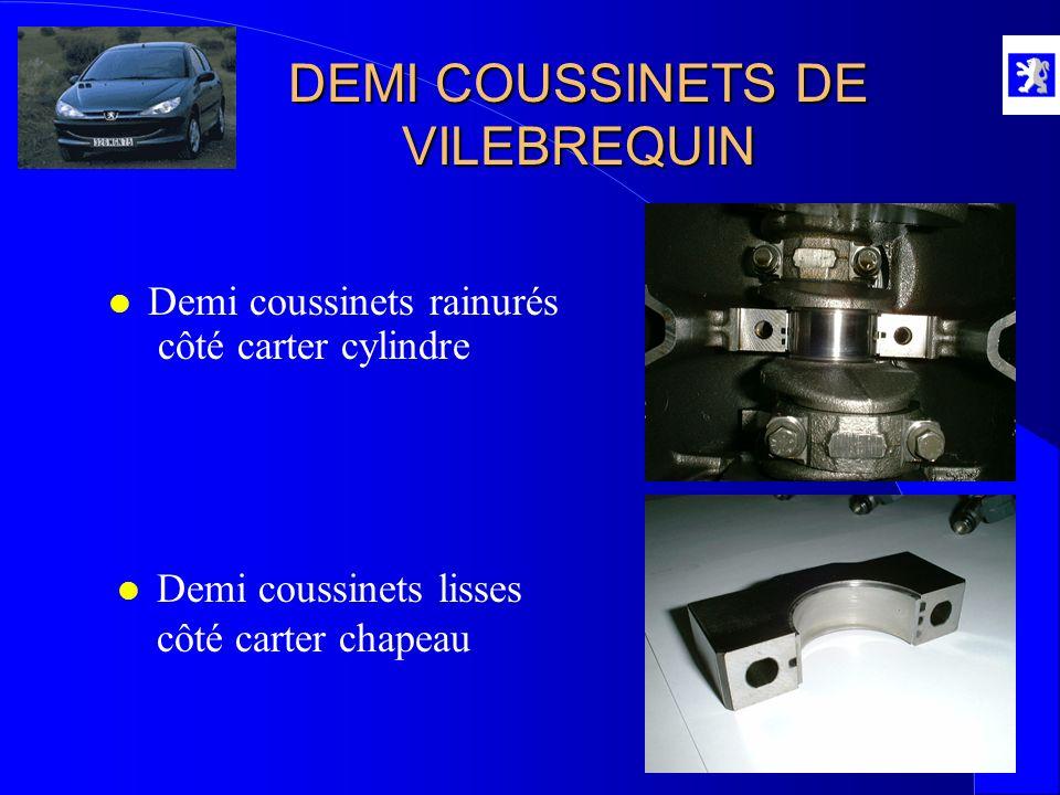 DEMI COUSSINETS DE VILEBREQUIN