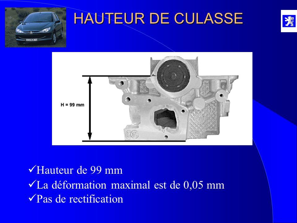 HAUTEUR DE CULASSE Hauteur de 99 mm