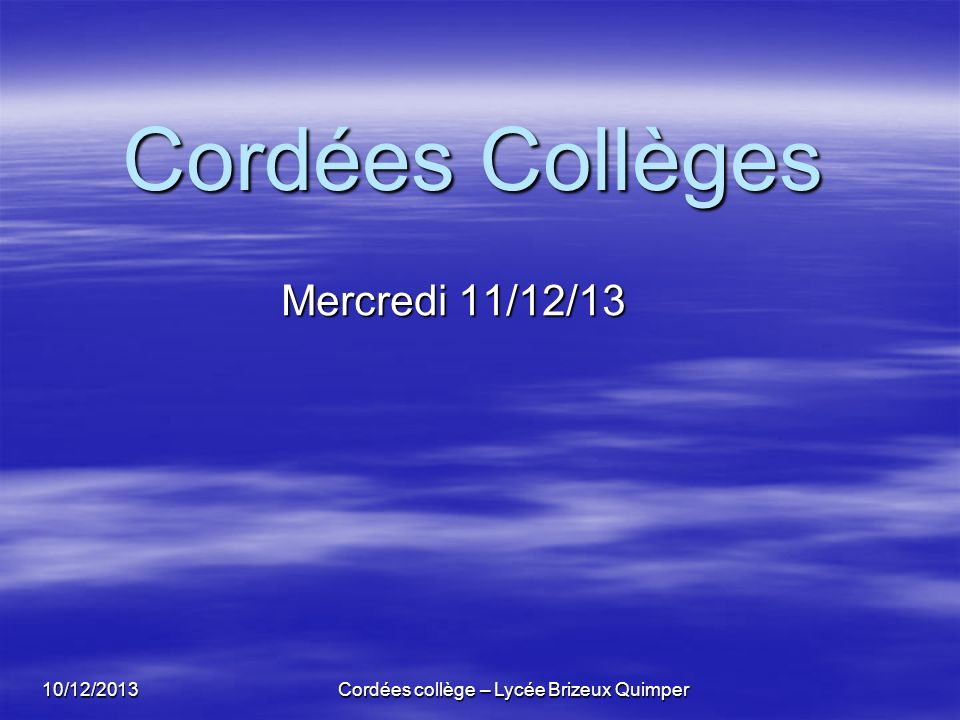 Cordées collège – Lycée Brizeux Quimper