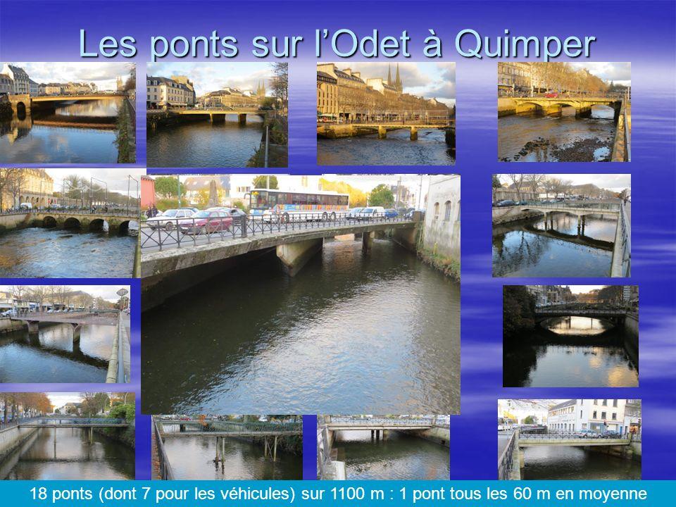 Les ponts sur l'Odet à Quimper