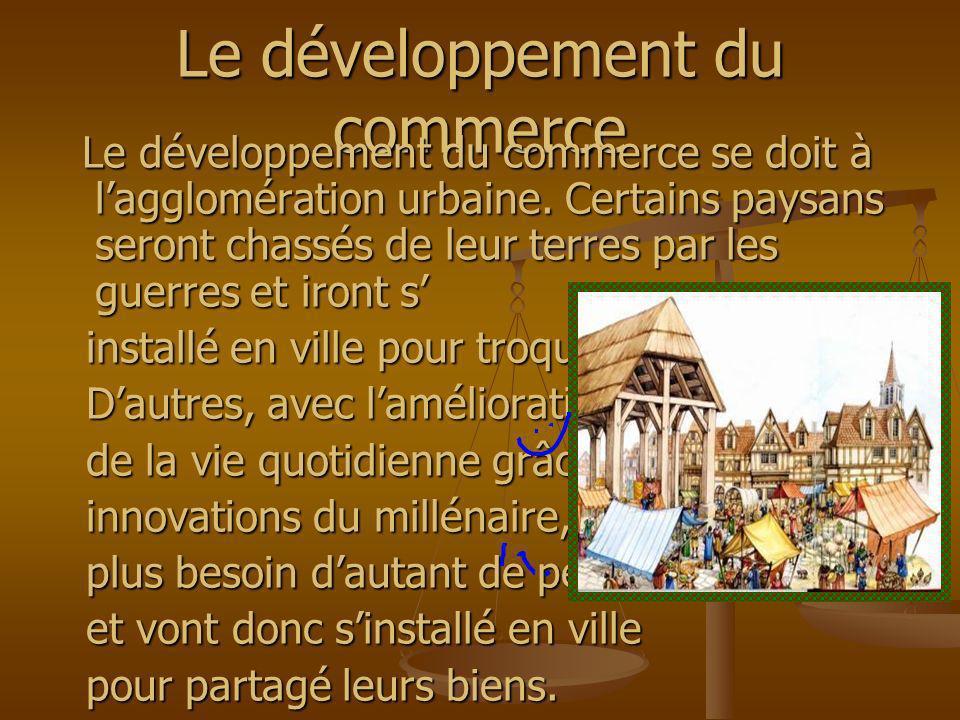 Le développement du commerce