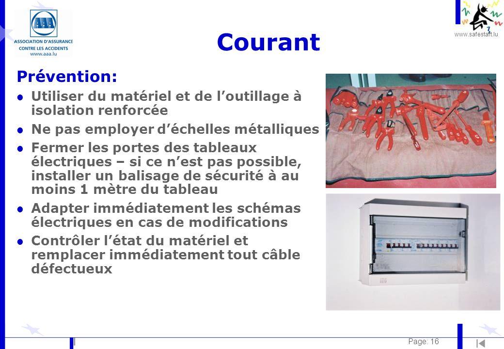 Courant Prévention: Utiliser du matériel et de l'outillage à isolation renforcée. Ne pas employer d'échelles métalliques.