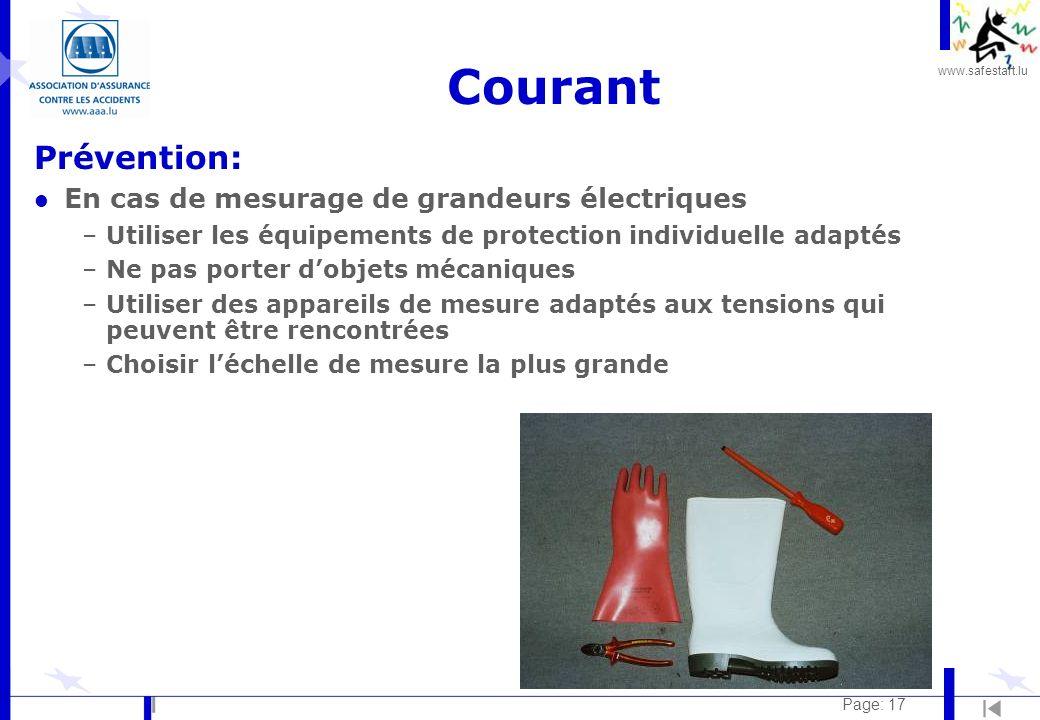 Courant Prévention: En cas de mesurage de grandeurs électriques