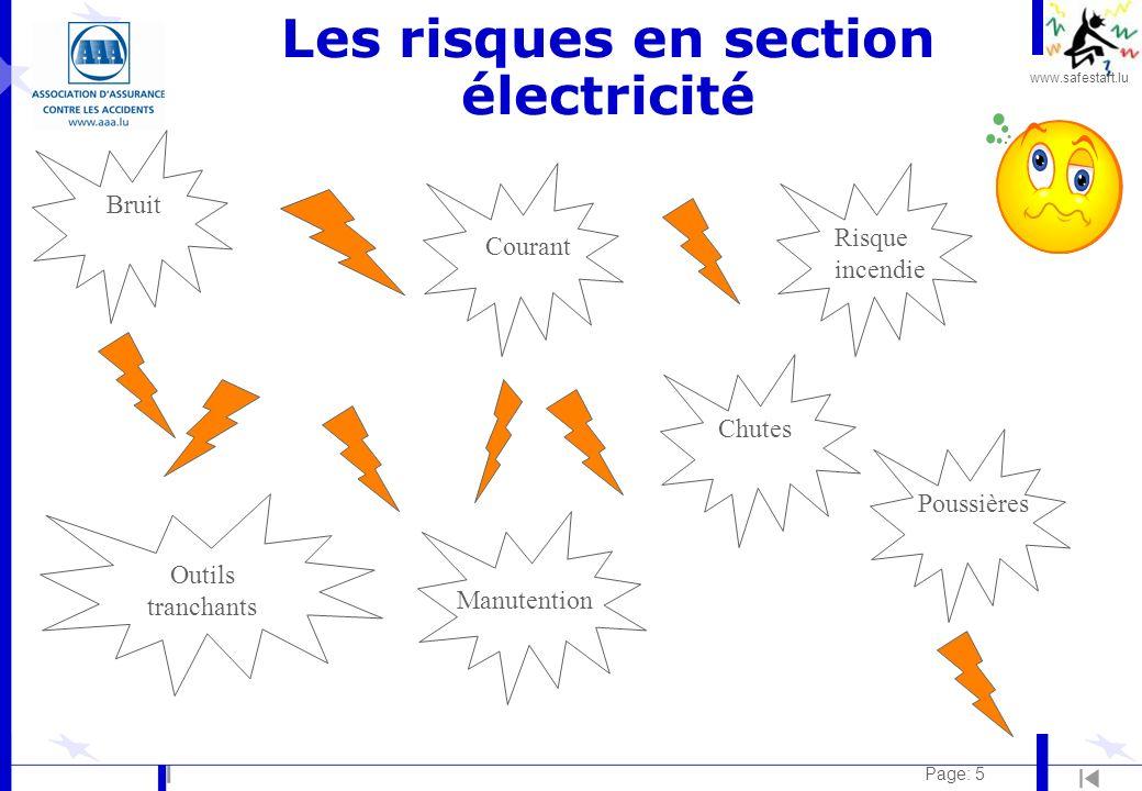 Les risques en section électricité