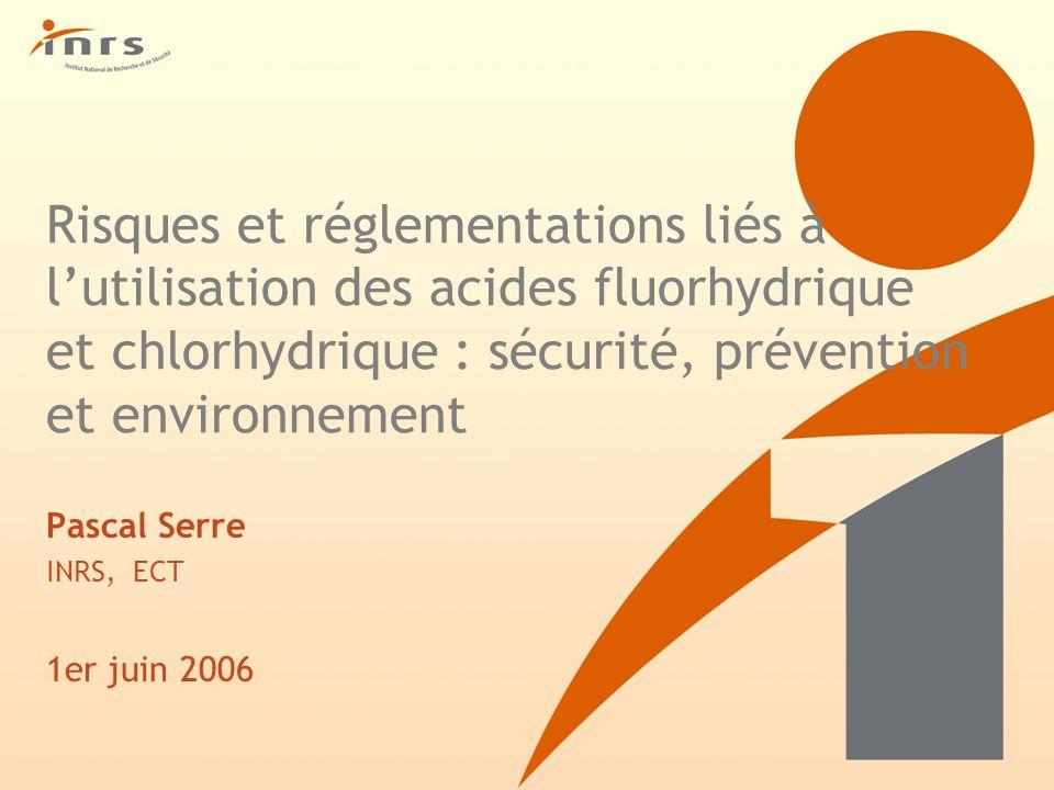 Pascal Serre INRS, ECT 1er juin 2006