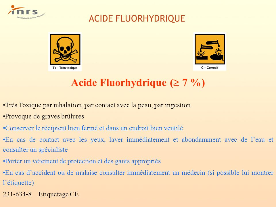Acide Fluorhydrique ( 7 %)
