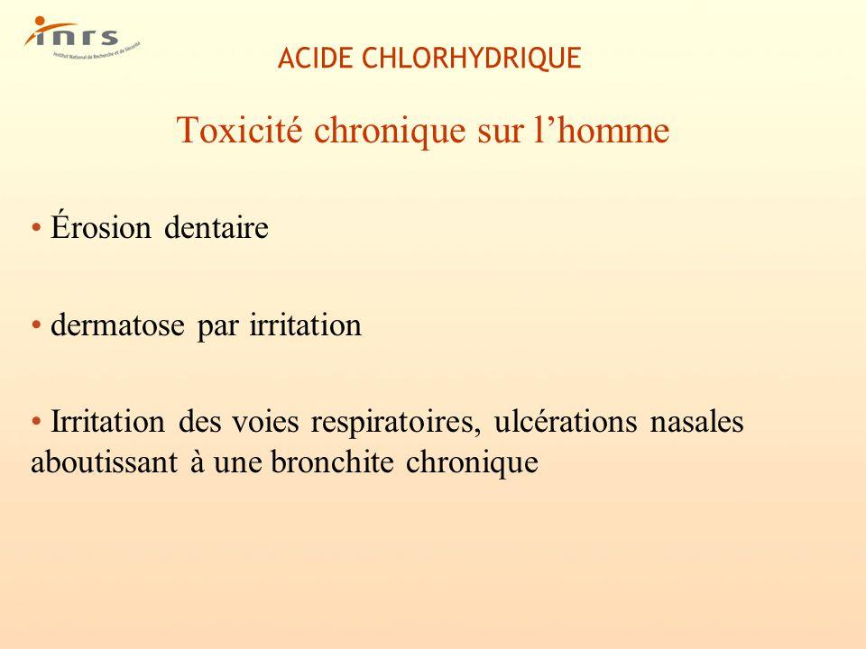 Toxicité chronique sur l'homme
